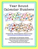 12 Month Calendar Number Cards