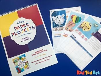 12 Month Calendar Printable - 12 Paper Crafts Evergreen Calendar