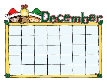12 Month Calendar for Reading Logs, Discipline, or General Classroom Use