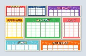 12-Month Classroom Calendars (tabloid size)