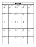 12 Month M-F Calendar (reusable)