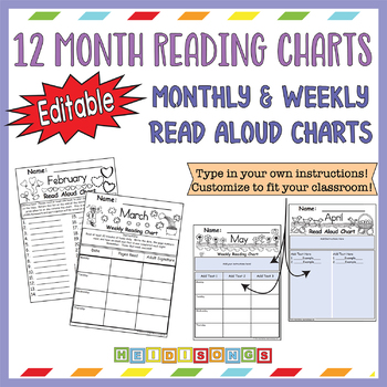 12 Month Read-Aloud Charts