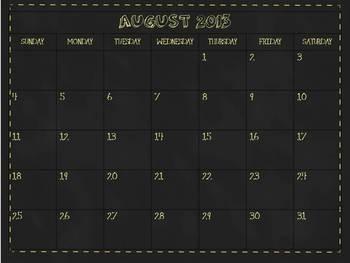12 Month School Calendar for Smart Notebook