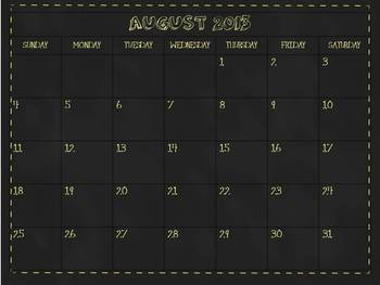 12 Month School Calendar for Smart Notebook