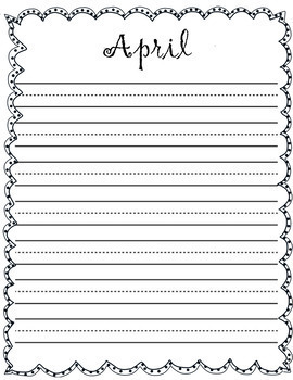12 Monthly Handwriting Pages
