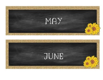 12 Months cards in burlap & chalkboard!