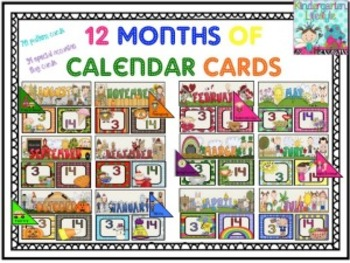 12 Months of Calendar Cards Ultimate Pack