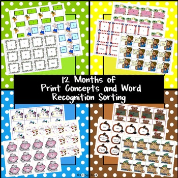 12 Months of Print Concepts and Word Recognition