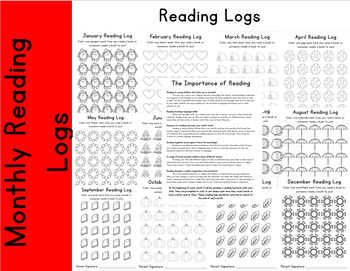 12 Months of Reading Logs