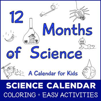 12 Months of Science - Kid Calendar
