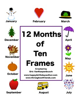 12 Months of Ten Frames - All Seasons, All Year -- Pair Wise, Five Wise