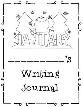 12 Months of Themed Take Home or Classroom Writing Journals