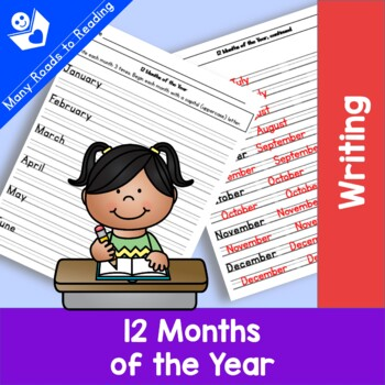 12 months of the year worksheet by many roads to reading tpt. Black Bedroom Furniture Sets. Home Design Ideas