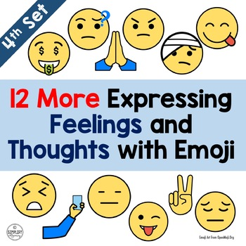 Emoji - 12 More Expressing Feelings and Thoughts with Emojis (Set 4)