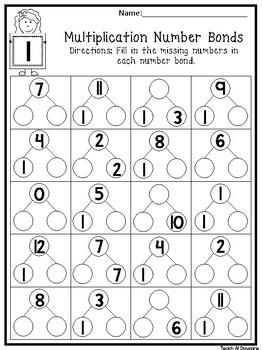 Number bonds worksheet teaching resources teachers pay teachers 2nd 4th 12 multiplication number bonds worksheets fill in the missing numbers 2nd 4th ibookread ePUb