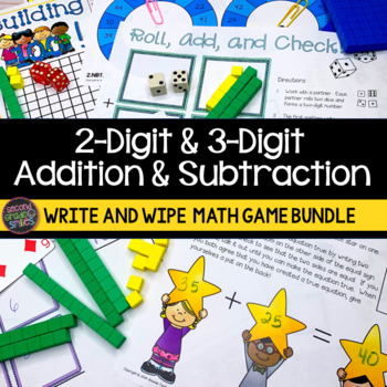 2-Digit & 3-Digit Addition and Subtraction Games
