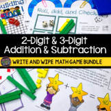 2-Digit Addition & Subtraction & 3-Digit Addition and Subtraction Games