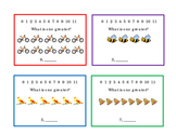 12 One-Greater Kindergarten Math Task Cards Counting One Greater Numbers 3 pages