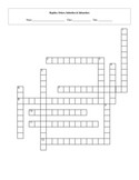 12 Order Reptile Taxonomy Classification Crossword with Key