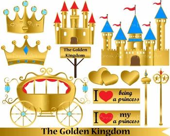 12 PNG Files- The Golden Kingdom clipart- 300 dpi 077