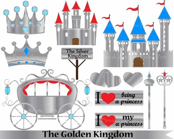 12 PNG Files- The Silver Kingdom clipart-  300 dpi 078