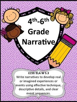 Narrative Writing Lessons for 4th/5th/6th grade NO PREP