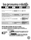 20 Page French Packet: Relative Pronouns (inc. ce qui, etc