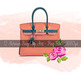 12 Painted Luxury Bags Clip Arts Fashion and Roses Clip Art
