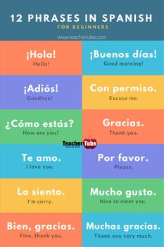 12 Phrases In Spanish for Beginners