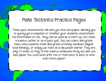 Plate Tectonics Warm Ups