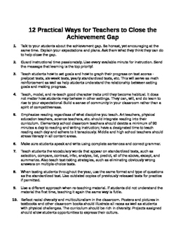 12 Practical Ways for Teachers to Close the Achievement Gap