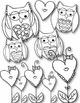 I LOVE Owls Doodles Clip Art ~ Valentine's Day ~ Hearts