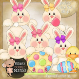 12-Primsy Bunnies 300 dpi Clipart