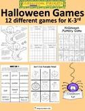 12 Printable Halloween Games for K-3