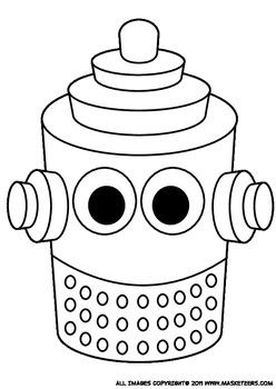 12 Printable Robot Masks