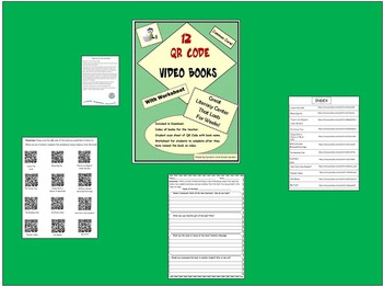 12 QR Code Video Books with Worksheets Literary Center Lasts for Weeks