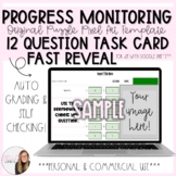 12 Question Fast Reveal Progress Monitoring Task Card Puzz