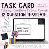 12 Question Picture Reveal Progress Monitoring Task Card Template
