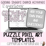 12 Questions Puzzle Pixel Art Template for Commercial and