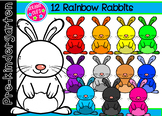 12 Rainbow Rabbits