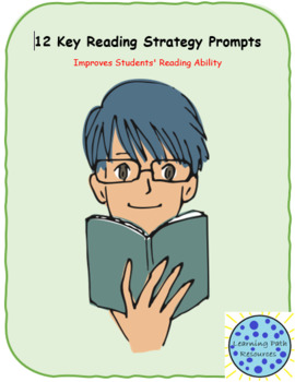 12 Reading Strategy Prompts and Book Log