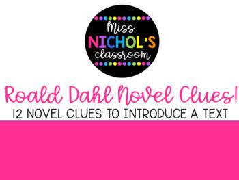 12 Roald Dahl Novel Clues for Pass the Parcel EDITABLE Bundle