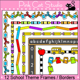 School Theme Page Borders and Frames Clip Art