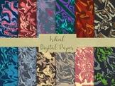 "12 Seamless Tribal Pattern Digital Paper, 12"" x 12"" High Resolution Jpeg Files."