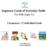 5 Sequences of Everyday Tasks for Kids & Young Adults (Set 3 of 3)