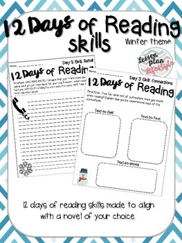 12 Days of Reading Skills (winter theme)