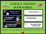 12 Space Theme Bookmarks
