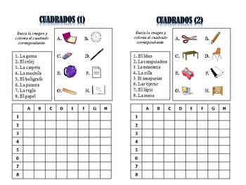 Spanish Classroom Object Activities; Do Now, Fast Finisher, Homework