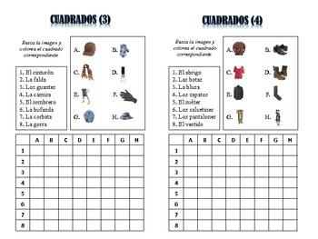 Spanish Clothing Activities; Do Now, Fast Finisher, Homework