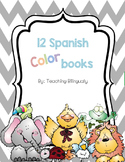 12 Spanish Color books